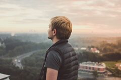 Portrait of Male in Sleeveless Jacket Royalty Free Stock Photo