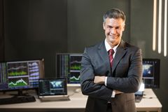 Portrait Of A Male Stock Market Broker royalty free stock image