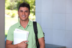 Portrait of male student Royalty Free Stock Images