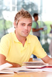 Portrait of male student Stock Photo