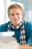 Portrait of male student with books Royalty Free Stock Images