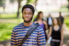 Portrait Of Male Student On Campus Stock Images