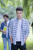 Portrait of male student stock image