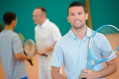 Portrait male tennis player. Portrait of male tennis player Stock Images