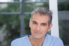 Portrait of male therapist. Portrait of beautiful therapist man Royalty Free Stock Photo