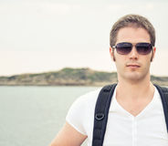 Portrait of male tourist. Stock Photos