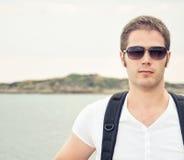 Portrait of male tourist. Stock Photos