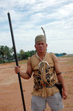Portrait of male tribal kalimantan Indonesia Royalty Free Stock Image