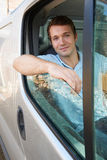 Portrait Of Male Van Driver stock photography