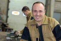 Portrait male worker in uniform Royalty Free Stock Photo