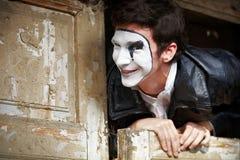 Portrait of a Man mime. Stock Photos
