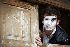 Portrait of a Man ​​mime. Stock Images