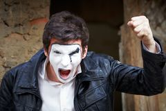 Portrait of a Man ​​mime. Stock Photos