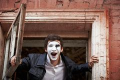 Portrait of a Man ​​mime. Royalty Free Stock Photos