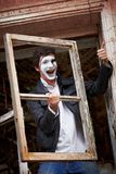 Portrait of a Man ​​mime. Royalty Free Stock Image