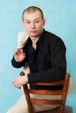 Portrait of man. Royalty Free Stock Image
