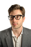 Portrait of a Man. With glasses Royalty Free Stock Image