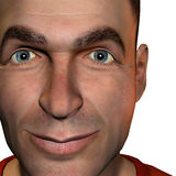 Portrait Man. 3d rendering  of a man as a portrait and  illustration Stock Photo