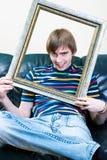 Portrait of a man. Cute portrait of a boy Stock Image