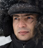 Portrait of the man. In winter clothes Stock Photography