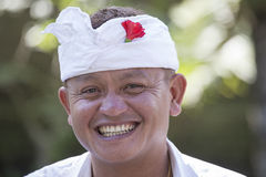 Portrait man in Bali island. Indonesia Royalty Free Stock Photos