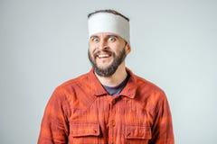 Portrait of man bandaged up Royalty Free Stock Image