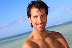Portrait of man at the beach Royalty Free Stock Image