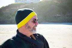 Portrait of Man at Beach Royalty Free Stock Image