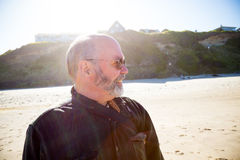 Portrait of Man at Beach Stock Photography