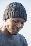 Portrait of man with beany on head Royalty Free Stock Images