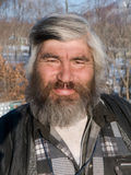 Portrait of Man with Beard 20. A portrait close-up of the men, the representative of one of small indigenous peoples of Russian Far East. His name is Valery Royalty Free Stock Photos