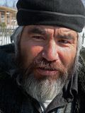 Portrait of Man with Beard 3. A portrait close up men, the representative of one of small indigenous peoples of Russian Far East. His name is Valery Eusan Stock Photos