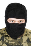 Portrait of  the man in a black mask Royalty Free Stock Photography