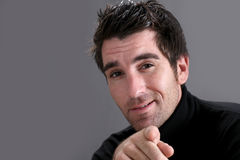 Portrait of man with black sweater Royalty Free Stock Photos