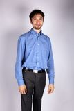 Portrait of a man in a blue shirt Royalty Free Stock Photography
