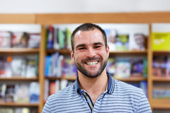 Portrait of a man in a bookstore Royalty Free Stock Photo