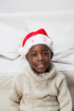 Portrait of man with Christmas hat royalty free stock photo