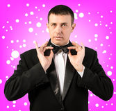 Portrait the Man in a classical tuxedo Stock Photography