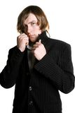 Portrait of a man in the coat Royalty Free Stock Images