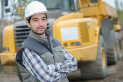 Portrait man on construction site Royalty Free Stock Photos