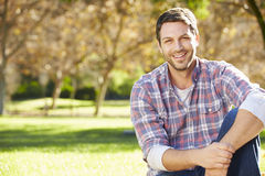 Portrait Of Man In Countryside Stock Photos