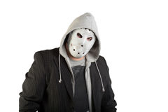 Portrait of a man in creepy mask Stock Photography