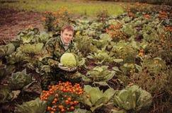 Portrait. Portrait of a man with a crop Stock Photos