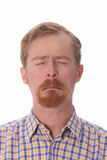 Portrait of man crying Royalty Free Stock Photos