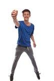 Portrait Of Man Dancing Stock Image