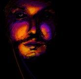Portrait of man, digital painting Royalty Free Stock Image