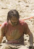 Portrait of a man dirt with mud Royalty Free Stock Photography