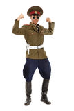 Portrait of a man dressed as a military dictator. Isolated Stock Images