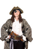 Portrait of man dressed as pirate Stock Photo