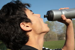 Portrait of a  man drinking water Royalty Free Stock Image
